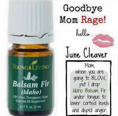 Young Living Essential Oils: Anger Cortisol