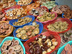 Diyas being sold at the local market. What fun to buy different sizes and colors and decorate homes!