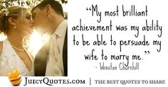 Here are lovely marriage quotes and sayings. Are you married? Do you want to send a nice quote to your husband or wife? One of our quotes about marriage will be perfect for you.
