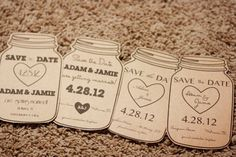 Magnet Mason Jar Save the Date Rustic Wedding by AestheticJourneys, $1.50
