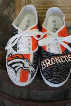 Denver Broncos Custom Hand Painted Canvas by TouchOfJoyDesigns