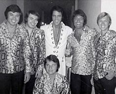My dad, Elvis and the Imperials (backstage in Las Vegas) 1970