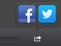 Nice share Tool Tip iOS design found on Dribbble.