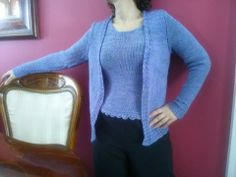 Nickie's just completed this knit set in Ella Rae Lace Merino a perfect fit!!