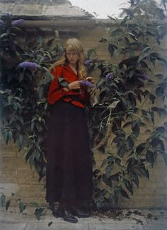 Christina in Red: Gorgeous photos of a young woman in vivid reds from 1913 | Dangerous Minds