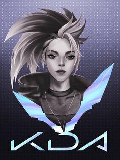 League Of Legends Characters, Lol League Of Legends, Girls Characters, Akali Lol, Character Art, Character Design, League Memes, Otaku, Overwatch Fan Art