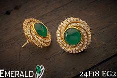 Enhance elegance by adorning sophisticated  emerald earrings.