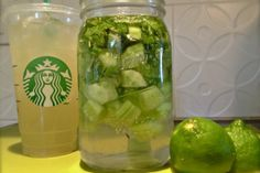 make your own Starbucks Cool Lime Refresher :) soooo yummy!!!