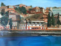 Porto, Portugal. 2015. Based on a photo by Liliana. Oil on canvas. 2016