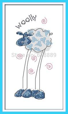 Овец с Длинными Ногами шаблоны Счетный Крест Стежка 11CT Напечатаны Вышивка Крестом мультфильм Вышивки Крестом Наборы для Вышивания Рукоделие купить на AliExpress