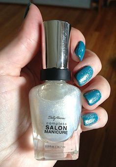 Review, Swatches: Sally Hansen 7-in-1 Complete Salon Manicure Nail Polish: 49 Metallic, Glitter Shades With Gel-Like Shine