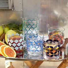 Tile Print Glassware-love these!