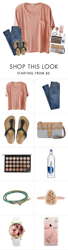 """""""ahhhhhhh."""" by simply-positive-prep ❤ liked on Polyvore featuring Clu, American Eagle Outfitters, Birkenstock, Red Camel, NOVICA, Kendra Scott and Lipsy"""