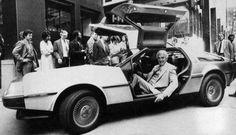 April 1981 John DeLorean shows off his revolutionary sports car to NYC. #BackToTheFuture hit cinemas 4 years later!