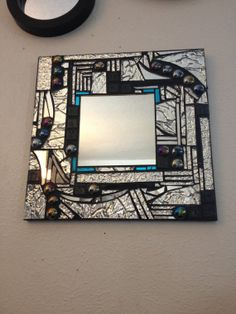 Stained glass mosaic mirror/textured mirror/abstract mosaic style mirror