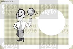 Greeting card with businessman spinning a globe – personalize your card with a custom text