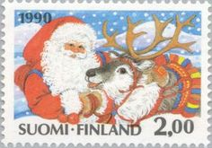 Christmas Stamps for Xmas and Holidays Vintage Santa Claus, Vintage Santas, Christmas Art, Vintage Christmas, Xmas, Commemorative Stamps, Love Stamps, Pretty Cards, Stamp Collecting