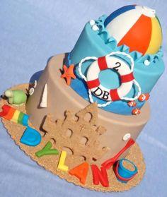 Beach Ball Birthday Cake Ideas - Share this image!Save these beach ball birthday cake ideas for later by share this image, Beach Ball Cake, Beach Ball Party, Beach Cakes, Beach Ball Birthday, Summer Birthday, Birthday Ideas, 2nd Birthday, Birthday Cakes, Theme Bapteme