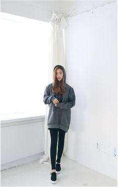 Long Napping Hood Tee   Korean Fashion
