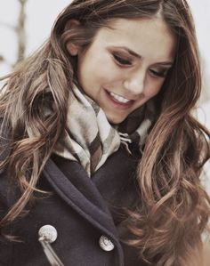 Her smile is perfect. Nina Dobrev ~ Elena Gilbert from The Vampire Diaries ♥