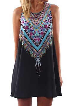 KAMACO Women's Sexy Sleeveless Boho F…