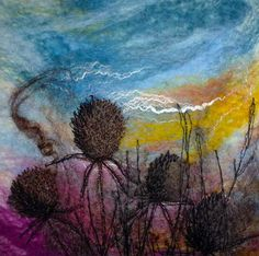 """ Teasels"" SOLD - Threlfall's Art Studio 