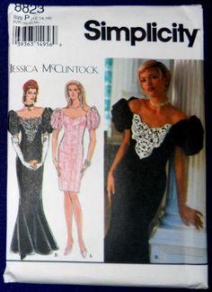 a5ef9339021 Simplicity-Jessica-McClintock-8823-Off-Shoulder-Dress-Sizes-