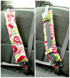 Sewing For Kids Easy Seatbelt Pillow Tutorial - At last, something soft, quick and easy to sew. For kids and adults alike to get some good rest during a road trip. Like the pocket to hold an ipod, tissues, drink even. Sewing Hacks, Sewing Tutorials, Sewing Crafts, Sewing Tips, Sewing Ideas, Sewing Basics, Bags Sewing, Seatbelt Pillow Tutorial, Love Sewing