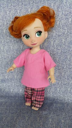 """Cozy Pajamas for Disney Animator's Collection (16"""" dolls) - Flannel Pants and Shirt, by WiggleAndRoo on Etsy"""