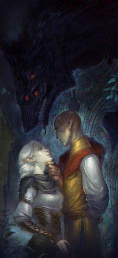 "al-teya: ""..another kiss in the Fade, ma vhenan? """