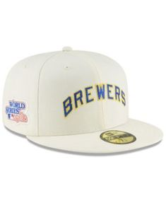 new products c6c36 761cb New Era Milwaukee Brewers Vintage World Series Patch 59FIFTY Cap - White 8