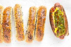 Top-Scheiben geschnitten Hot Dog Brötchen
