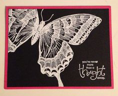 Stampin Up Embossed Butterfly Card