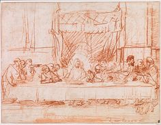 Rembrandt (Rembrandt van Rijn) (Dutch, 1606–1669). The Last Supper, after Leonardo da Vinci, 1634–1635. The Metropolitan Museum of Art, New York. Robert Lehman Collection, 1975 (1975.1.794)