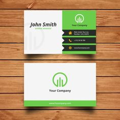 Corporate Green Business Card Design Vector Free Download Visiting Cards Design