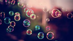 I'd like to blow bubbles more often.