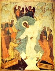One week ago we celebrated Holy Saturday, the day between the death of Christ and His resurrection. What happened to the soul of Christ during that time? Religious Icons, Religious Art, Holy Saturday, Black Saturday, Black Jesus, Christ Is Risen, Jesus Christ, Russian Icons, Oil Painting Reproductions