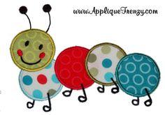 cattipillar applique   Caterpillar Applique Design