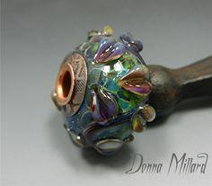 SRA HANDMADE LAMPWORK Focal Glass Bead by Donna Millard
