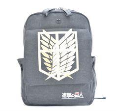 Attack on Titan Backpack (Caramel/Gray/Blue)