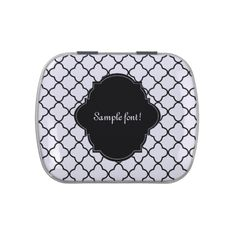 PixDezines quatrefoil/wedding favors mint Jelly Belly Tins