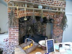 The kitchen at the Jane Austen's House Museum. Make your own lavender sachets or write with a quill!