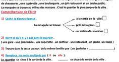 اختبار الفصل الاول في اللغة الفرنسية بالسنة الرابعة ابتدائي الجيل الثاني Chapter One, French Language, Chart, Public Garden, Board, French People, French