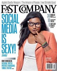 Mindy Kaling, funny-woman extraordinaire and HuffPost Women friend-crush, is on the cover of the September issue of Fast Company magazine. Mindy Kaling, Fast Company Magazine, Recycle Newspaper, Jen Atkin, The Mindy Project, Cool Magazine, Magazine Covers, Sexy Poses, Celebs