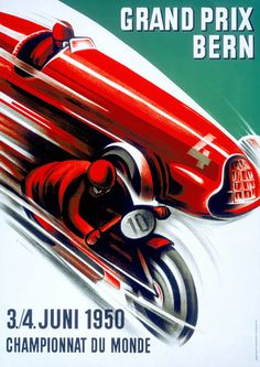Grand Prix Cars Motorcycles - Vintage Posters and Prints