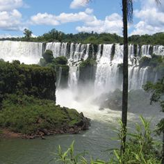 Iguazu Falls - Brazil. A series of 200 separate waterfalls, Iguazu is best viewed when the river is high and the moon is full.