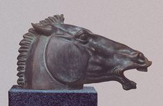 Bronze Horse Sculpture / Equines Race Horses Pack HorseCart Horses Plough Horsess sculpture by sculptor Badri Goguadze titled: 'Head of Horse (Classical Greek Style bronze Bust sculptures)' Sculpture Head, Horse Sculpture, Animal Sculptures, Bronze Sculpture, Abstract Sculpture, Greek Model, Equestrian Statue, Horse Art, Horse Head