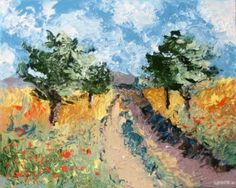 Mark+Webster+-+Foothill+Road+Palette+Knife+Oil+Painting,+painting+by+artist+Mark+Adam+Webster