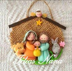 Nativity Ornaments, Nativity Crafts, Christmas Nativity, Felt Christmas, Christmas Time, Christmas Ornaments, Xmas, Christmas Craft Projects, Polymer Clay Christmas