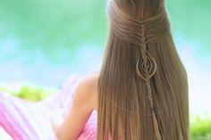 Real life mermaid hair!  Love this! #hairstyles #hairstyle #cutegirlshairstyles #mermaid #mermaidhair #CGHmermaidbraidcombo #braid #mermaidbraid